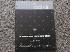 New listing Marantz 4100 Quadradial 4 Console Amplifier Original Service Repair Manual