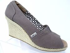 "TOMS Canvas ""Calypso"" Wedge - Color: Ash (Gray) Women's Size W9"