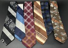 Lot of 6 Vintage Mens Ties Neckties Wemlon Wembley Damon Etc 3902