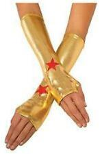 DC COMICS Official WONDER WOMAN Metallic Fingerless GLOVES COSTUME Prop COSPLAY