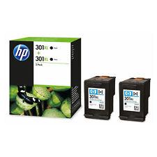 2x Original HP 301XL Black Ink Cartridges For DeskJet 3050 Inkjet Printer