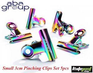 Aba Group Curve Mini 3cm Pinching Clips Set 5pcs Metal Nail Tools Clamp Pincher