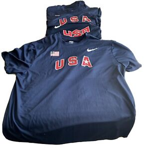 Nike Dri Fit Team USA Shirts - XXL, Set of Three