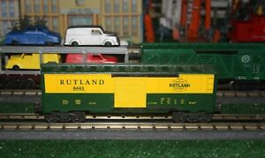 K Line Green and Gold Rutland Boxcar # 6443 with Cast Trucks   - With Box