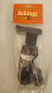 PSE KING Gray/Black Camo & Leather 3 Finger Shooting Glove sz XL NEW 4220MXL