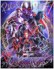 8.5x11 Autographed Reprint RP Photo Avengers Endgame Cast Downey Evans Johansson
