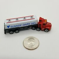 Vintage 1980's Funrise Toys Sunrise Dairy Semi Truck Tractor Milk Tanker Trailer
