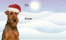 Airedale Terrier Dog Christmas Labels By Starprint - No 2 Design