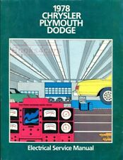 1978 CHRYSLER SHOP MANUAL ELECTRICAL PLYMOUTH DODGE SERVICE REPAIR BOOK