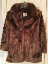 NWT Abercrombie And Fitch Women Brown Faux Fur Jacket Coat Size L $140 Cute!