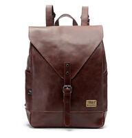 sport women Travel Leather Vintage Backpack Rucksack School laptop messenger Bag