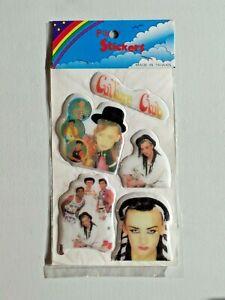 Boy George Culture Club Vintage Puffy Stickers Sealed NIP NOS