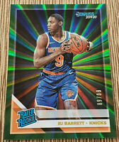 2019-20 Donruss RJ Barrett Rated Rookie /99 Green Laser #203 New York Knicks
