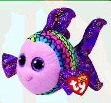 TY Beanie Boos Medium - FLIPPY The Multicoloured Fish - New