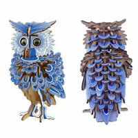3D Wooden Owl Puzzle Jigsaw Woodcraft Kids Kit Toy Model DIY Construction Bird