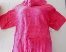 NEW Womens Pink Sweater, Size XL, Kim Rogers, cowl neck, short sleeve *704