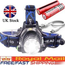 Rechargeable Tactical 30000LM T6 LED Headlamp 18650 Headlight Head Torch Lamp ☆
