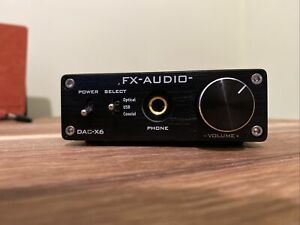 FX-Audio DAC X6 USB Headphone Amplifier Digital Inputs