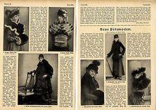 """Damenmode """"Neue Pelzmoden"""" mit 8 Modeaufnahmen v.Becker & Maaß 1916"""