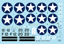 WOLFPACK DESIGN 32004 Decal for Revell®/Trumpeter® F4F-4 Wildcat Part.1 in 1:32