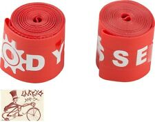 "ODYSSEY 20"" X 1.75"" RED BICYCLE RIM STRIPS--1 PAIR"