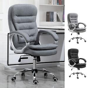 Office Chair Ergonomic Executive Style w/ Swivel Base 5 Wheels Extra Padded