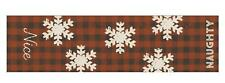 """Primitives By Kathy Primitive Red Plaid """"Naughty & Nice"""" Table Runner"""