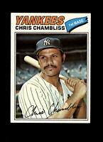 1977 Topps #220 Chris Chambliss NM Yankees Vintage Baseball Card