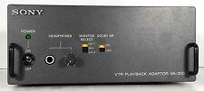 1 Used Sony Va-300 Vtr Playback Adapter *Make Offer*