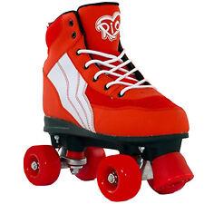 Rio Roller Classic Pure Red Roller Skates Girls Boys Vegan Size UK 2 EUR 34 US 3