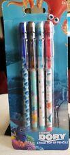 Disney Pixar Finding Dory Colorful Four (4) Pack Pop Up Pencils