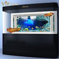 Underwater World PVC Aquarium Background Poster 3D Fish Tank Decor Landscape