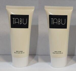 2 Bottles TABU by DANA Fragrance BODY LOTION 2.0 oz NEW Unbox VINTAGE Free Ship