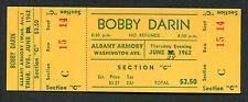 1962 Bobby Darin concert ticket stub Albany Armory NY Mack The Knife