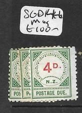 NEW ZEALAND (P1512B) POSTAGE DUE   SG D14-6  MOG