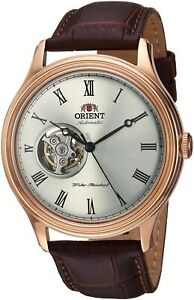 Orient Mens Envoy Automatic/Hand Wind Stainless Steel & Leather Watch FAG00001S0