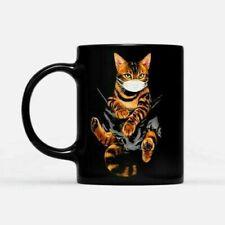 Bengal Cat Face Mask In The Pocket Ceramic Coffee Mug 11-15oz