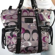 New Coach Poppy Daisy Sateen Optic Shoulder Hand Bag Pocket Tote F22962 RARE