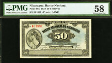Nicaragua 50 Centavos 1938 Pick-89a About UNC PMG 58