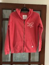 Lovely Coral Coloured Ladies Zip Up Hoodie From American Eagle Size XS