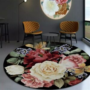 3D Carpet Round Chair Mat Classical Coffee Table Rug Decoration Bedside Carpet