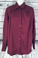 Tommy Hilfiger Women's Size 18 Blouse Long Sleeves Buttom Down Polka Dots
