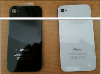 Genuine Glass Replacement Back for Apple iPhone 4 4S Rear Battery Cover