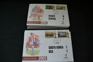 World Cup 2002 collection of g4 different matchday covers. Very attractive.