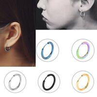 1Pair Jewelry Party Circle Ear Stud Round Hoop Earrings Stainless Steel
