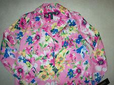 NWT Ralph Lauren Pink Floral Garden Cotton Sleep Night Shirt SMALL $59 New
