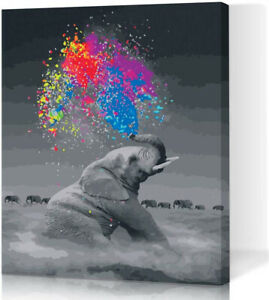 LIUDAO DIY Paint by Numbers for Adults Kids Elephant Paint by Numbers DIY Paint