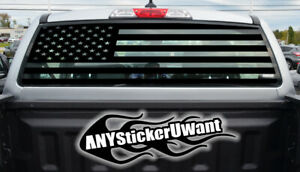USA American Flag Rear Window Vinyl Decal Fits Ford Ranger 2020