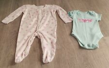Baby girl floral sleepsuit & bodysuit set size 0-3 mths by George