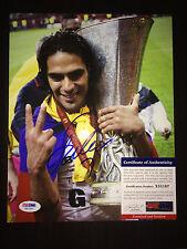 Radamel Falcao Signed/Auto 8x10 Photo Columbia Naional Team, AC Monaco PSA #4